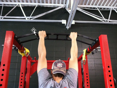 double handed chin up bar