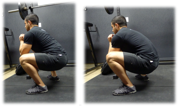 Bottom position squats think